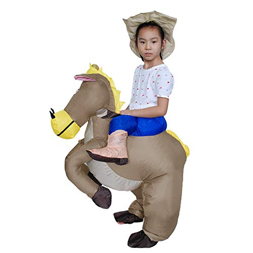 DMMASH Caballo Inflable Y Traje De Disfraces De Vaquero Traje (Niños)