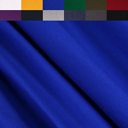 FabricLA Turkish Cotton Jersey Spandex Blend 4 Way Stretch (190GR - 1 Yard) - Royal Blue