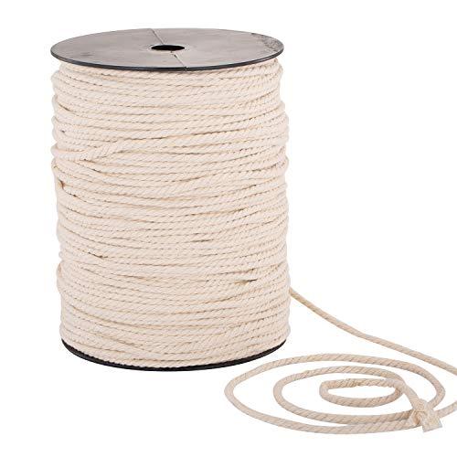 Macrame Cord 4mm x 240yd | 100% Natual Cotton Macrame Rope |