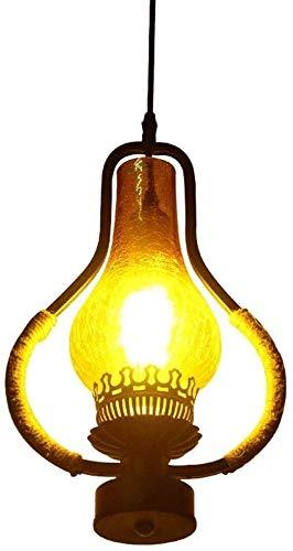 ZHUYU Mensaje de araña - rústica Vino colgante de madera Lámparas barril lámpara de la lámpara de madera reciclada metal del moho
