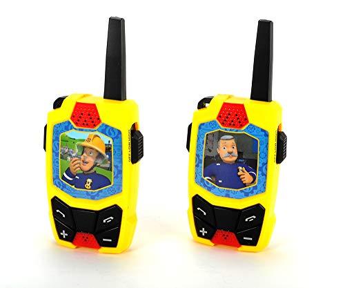 Toys-203092001 Feuerwehrmann Sam Dickie Toys Sam & Officer Steel-Walkie Talkie (434 MHz, alcance de hasta 250 m), multicolor, 0 (203092001) , color/modelo surtido