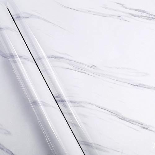 Czemo Vinilo Adhesivo Papel Marmol para Muebles Pegatina Decorativa Armario PVC Papel Pared Autoadhesivo, 40x300cm