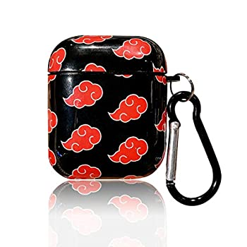 Airpods Case Airpods Protective Hard Case Cover with Keychain Compatible with AirPods 1&2,Shockproof Anti-Lost AirPods 1&2 Case Cover for Girls and Women Akatsuki