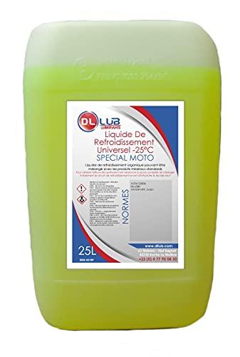 DLLUB - Liquide de refroidissement spécial moto -25°C - 25 litres
