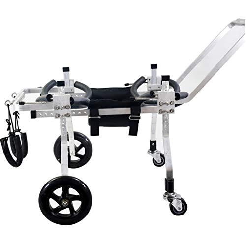 LXYPLM Hund Rollstuhl Rollwagen Einstellbare Hunderollstu 4-Rad Dog Rollstuhl Verstellbare Edelstahl Wagen Cat Rollstuhl Hinterbein Rehabilitation for Behinderte Haustier (Size : XS)