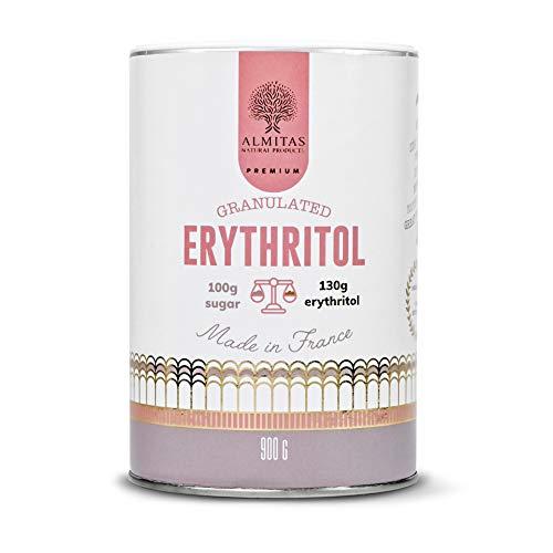 Erythrit 900g | Granuliertes | Süßstoff aus französischer Produktion, reiner, hochwertiger, kalorienfreier Zuckerersatz