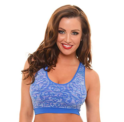 Dynashape Intima Jacquard Sports Bra (Blue, S)