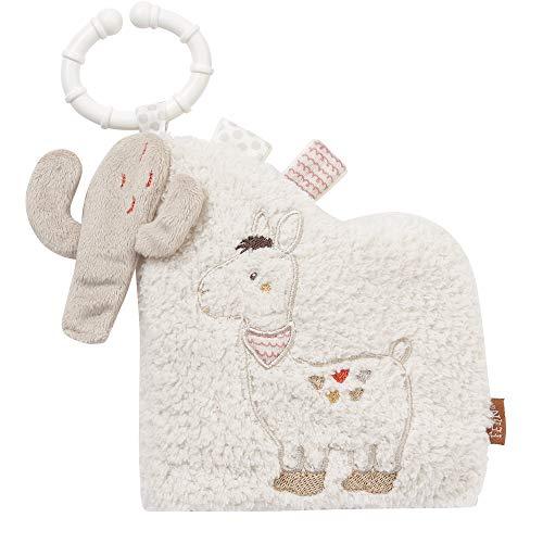 FEHN 058048 Livre en tissu Pérou avec motifs animaux : 6 pages avec couleurs et fonctions de toucher, saisie et étonnement pour bébés et enfants à partir de 0 mois