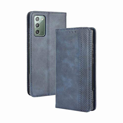 GOGME Leather Folio Funda para Samsung Galaxy S20 FE (Fan Edition) Funda, Flip Wallet Carcasa Tipo Libro Protector Magnético y Plegable de PU + TPU Soporte de Ranuras para Tarjetas, Azul