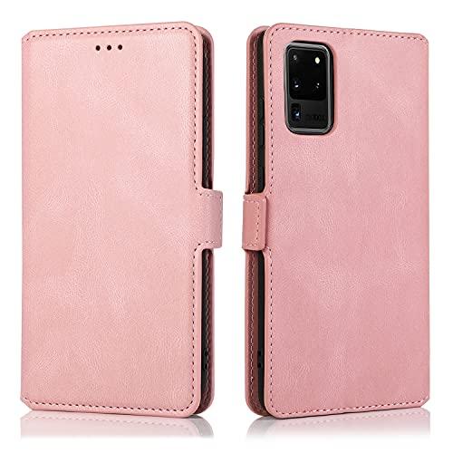 Caso del tirón del teléfono Para Samsung Galaxy S20 Ultra Mobile Phone Funda, Funda de teléfono de la caja de la caja del teléfono con flip magnético de cuero suave de estilo retro, adecuado para Sams