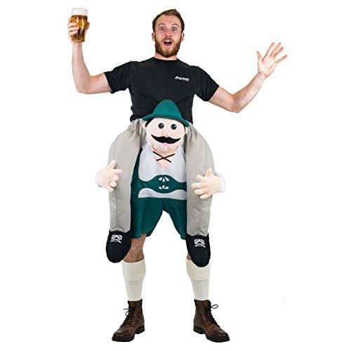 Bodysocks® Disfraz a Hombros (Carry Me) de Lederhosen para Adulto