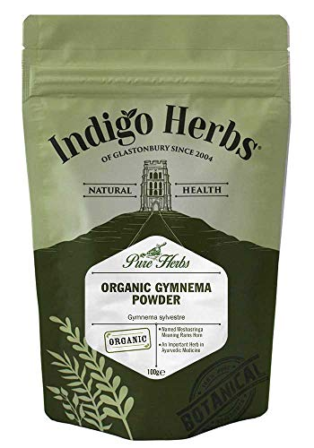 Indigo Herbs Orgánica Gymnema Sylvestre en Polvo 100g