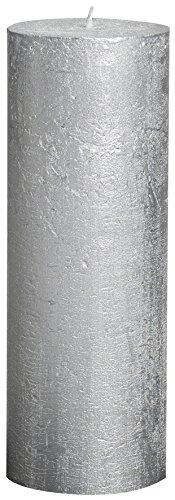 Vela de Plata metálica rústica 190 x 68 65 Horas Tiempo de la quemadura - Magia Blanca