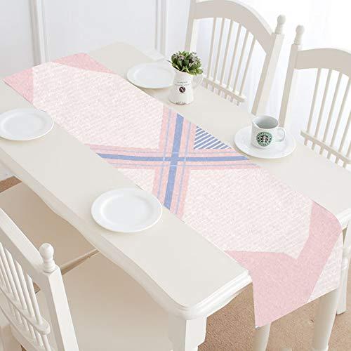 Camino de mesa para fiesta infantil Estilo de tartán Diseñ