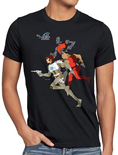 style3 Comet Besatzung Herren T-Shirt Anime Raumschiff Captain, Größe:L