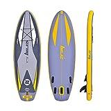 Huangjiahao Tabla Paddle Surf Hinchable Hydro-Force Inflable Sup Stand Up Paddle Board con Bolsa de Transporte y Bomba 290x91x15cm Gris y Amarillo para Adultos Principiantes/Intermedios