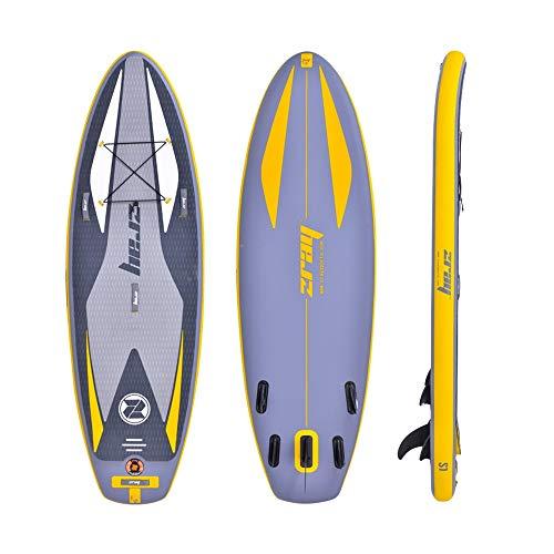 Tabla Inflable de Paddle Surf Hydro-Force inflable SUP Stand Up Paddle Board con bolsa de transporte de la bomba y 290x91x15cm para la Pesca de Snorkel Touring ( Color : Gris , Size : 290x91x15cm )