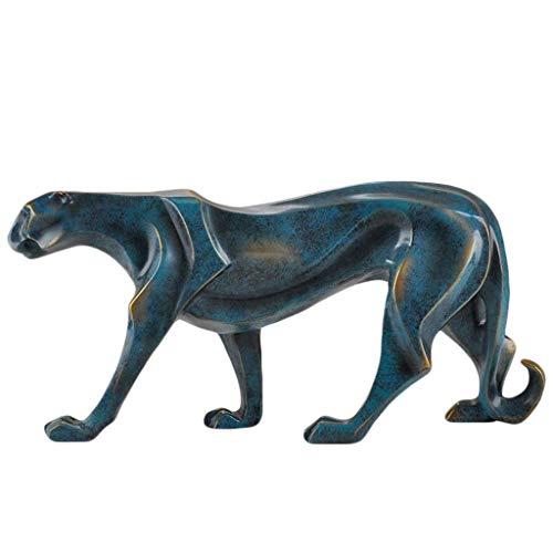 GaoF Sculpture Sculpture décoration Moderne Minimaliste créatif léopard Maison Armoire à vin Chambre Armoire personnalité Douce décoration Cadeau
