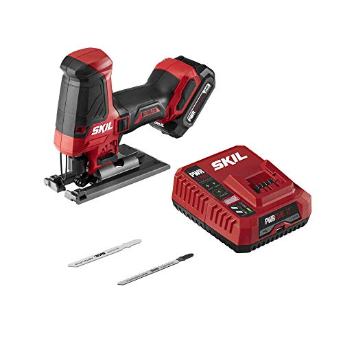 SKIL PWRCore 12 Brushless 12V Compact Jigsaw Kit, Includes 2.0Ah Battery and PWRJump Charger - JS5833A-10