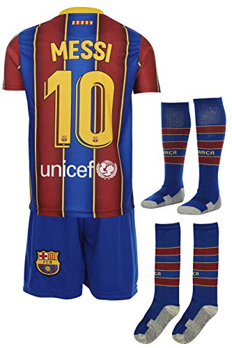 Barcelona Messi 2019/2020 Heim Trikot und Shorts mit Socken Kinder und Jugend Größe (140)