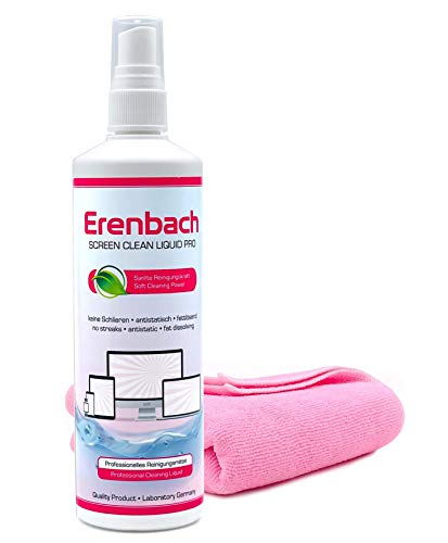 Erenbach Liquid Pro detergente per schermo (250 ml) con panno in microfibra – Pulizia...
