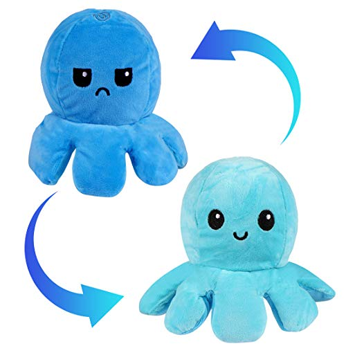 Zaloife Octopus Plüschtiere, Reversible Octopus Plush zum Wenden, Doppelseitige...