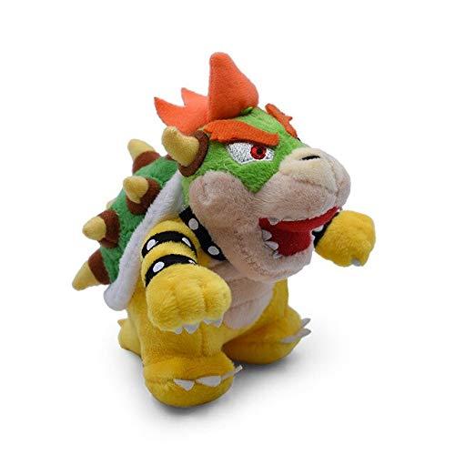 suxiaopei Stile Anime Super Mario Bros Q Siehe 3D Erdknochen Kuba Dark Dragon Bowser Koopa Weiche Gefüllte Puppe Plüschtier Trockene Knochen 13 cm Bowser Koopa OPP