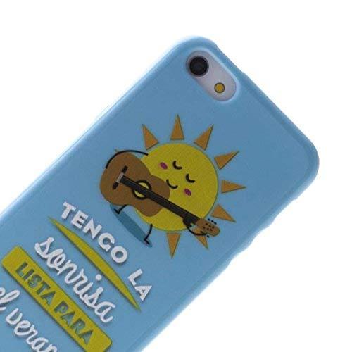Vahalla Accesorios Funda Gel para iPhone 5 5S Verano