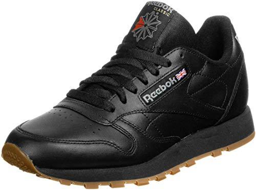 Reebok Classic Leather, Scarpe da Ginnastica Uomo, Nero, 44 EU