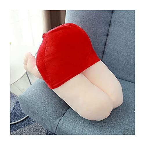 S HOME Almohada De Cama, Almohadas Estándar, Almohadas, Simulación De Belleza Muslo Pillow Almohada, Almohadas, Almohadas De Simulación, (Longitud 50cm)(Color:Rojo)