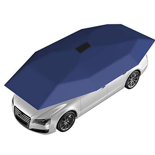 DUTUI Los Parasoles Y Sombrillas De Automóvil Totalmente Automáticos Que Se Pueden Cargar con Energía Solar Pueden Ayudarlo A Resolver Fácilmente Todo Tipo De Problemas,Azul
