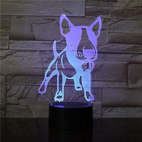EnglishTerrier Shape Progettato LED Lampada visiva Pet Dog Puppy 3D Illusione ottica Lampada Home Decor LED Lampada da tavolo a luce notturna