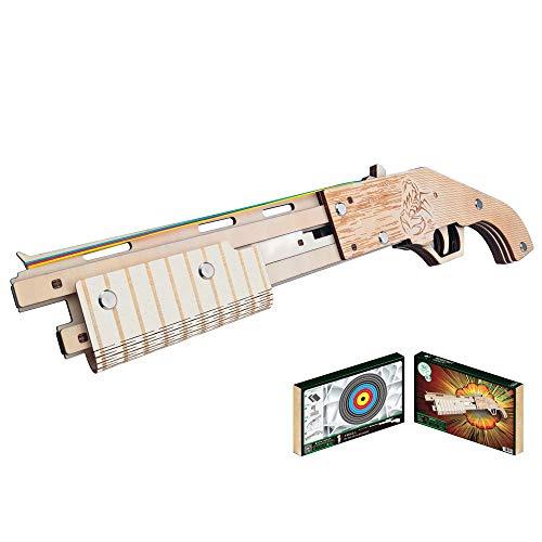 HFXZ2018 Holz-Konstruktion 3D-Puzzle Spielzeug, DIY Holz-Gewehr mit Gummibänder, Gun Modellbau Kits geeignet für Kinder und Jungen, Mädchen, Erwachsene