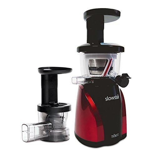 Tribest SW-2000-B Slowstar Vertical Slow Cold Press Juicer and Mincer, Red/Black by Tribest