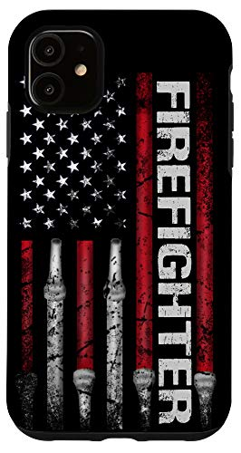 iPhone 11 Funny Firefighter american flag husband fireman Firefighting Case