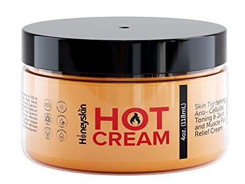 Premium Organic Hot Cream for Women and Men - Belly Sweat Cream and Firming Body Lotion - Sweat Enhancer - Toning Skin Tightening Cream - Anti-Cellulite Cream with Witch Hazel and Camphor (4oz)