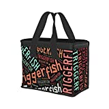 Fish Name Triggerfish Fresh Food Shopping Bag...