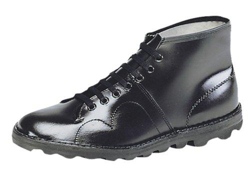 Grafters Women's Original Monkey Boot, Retro Style Black Leather UK 10 US