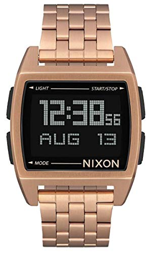 Nixon Herren Digital Uhr mit Edelstahl Armband A1107-897-00