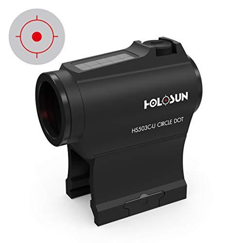 Holosun HS503C-U Micro Ottica di puntamento Red DOT Ottica Reflex Punto Circolare, Ottica Reflex, Doppio Reticolo, DOT 2MOA, Circle 65MOA, Pannello Solare, Slitta Picatinny … - 70127355