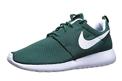 Nike Men's Roshe One Sneakers, Green (Gorge Green/White), 7 UK