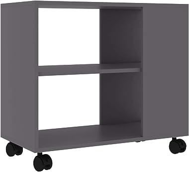 """JeeKan Side Table Gray 27.6""""x13.8""""x21.7"""" Chipboard"""