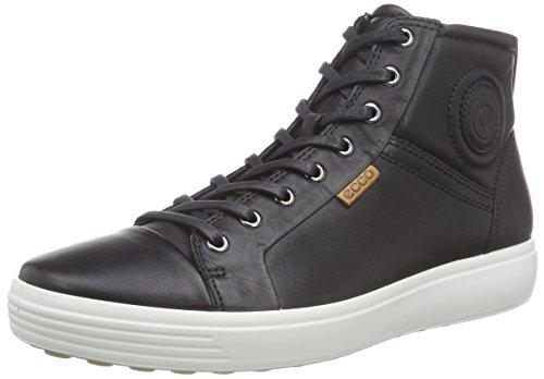 Ecco SOFT 7 MEN'S Herren Sneakers, Schwarz (1001BLACK), 45 EU