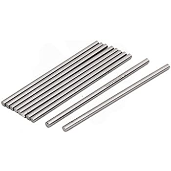 10 Pcs Silver Round HSS Drill Rod Lathe Bar for Processing of Copper Steel Metal