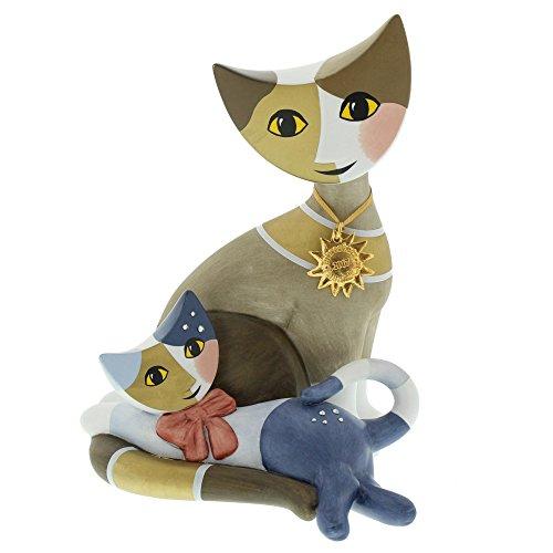Goebel Porzellan-Katzenpaar, Rosina Wachtmeister, Laviana e Terzo, Jahreskatze 2017, Höhe: 17 cm, Bunt, 31346011
