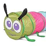 Castle Spielzelt Kinderspielzelte Mehrfarbiger Caterpillar-Krabbeltunnel Lustige Entwicklungsspielzeuge Geeignet für Kinder zum Spielen (Farbe: Mehrfarbig, Größe: Einheitsgröße)