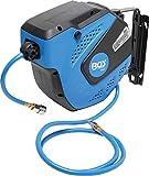 BGS 3297 | Druckluftschlauch mit Aufroller | automatisch | 10 m + 1,5 m Zuleitung | 180° schenkbar | inkl Montagehalter | Schlauchaufroller | Druckluftschlauchtrommel
