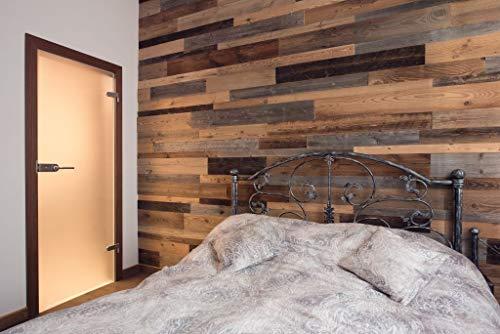 3D Altholz Wandverkleidung zum Kleben. Vintage Holz Verkleidung. Schnell anzubringende Wandpeneele. Tolle Holzdeko für die Wand. Echtholz Verblender - 3