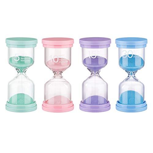 Sanduhr 4 Farben 5 Min / 10 Minuten / 15 Minuten / 30 Minuten Sanduhr-Timer Für Kinder, Klassenzimmer, Küche, Spiele, Heimdekoration, Kreative Geschenke (4 Packungen)