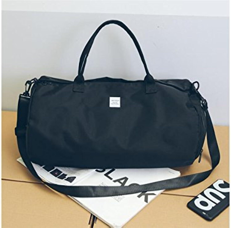 5b224ad0e Hiking Outdoor Large Capacity Nylon Gym Bag Sports Travel Weekender Duffel  Bag for Men and Women(Black Large) Outdoor Traveling for Holdall ...